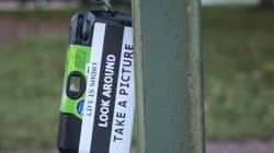 Prenez un appareil photo jetable, accrochez-le dans la rue, et... regardez le