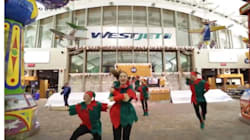Un Flash Mob du temps des fêtes par WestJet airlines