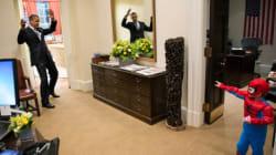 Quand Barack Obama jouait à Spider-Man dans le Bureau