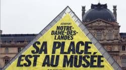 Notre-Dames-des-Landes: une banderole de Greenpeace au
