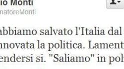 Tweet di mezzanotte: Mario Monti conferma la sua discesa in