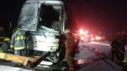 Un accident d'autobus sur la route 132 à Grosse-Roche fait un blessé