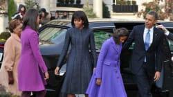 Look da First Lady: cappotto blu e abito Thom Browne (FOTO,
