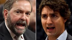 Trudeau Attacks Mulcair For Stance On