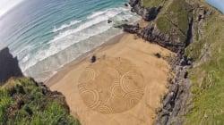 Come ti disegno una intera spiaggia (FOTO,