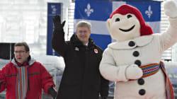 Harper rencontre le bonhomme Carnaval