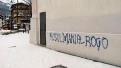 Cortina invasa da scritte xenofobe:
