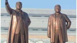 Une statue de Kim-Jong-il habillée pour