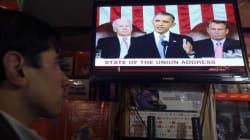 Pendant le discours d'Obama, les médias US ont été bien