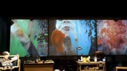Portrait d'artiste au travail au théâtre du Rond