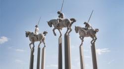 I cavalieri di Javier Marin e le sculture in