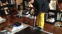 Dans l'atelier de Fabienne Verdier: son hommage aux maîtres