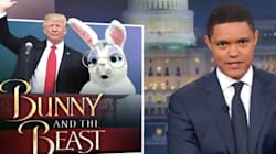 Trevor Noah Loves The Giant Eggs That Donald Trump Laid At His Easter