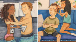 Estos dibujos muestran cómo es el amor cuando nadie lo