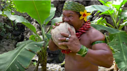 Watch This Man Destroy A Coconut With His