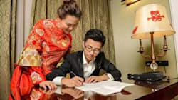 Couple Spends Wedding Night Copying Out Chinese