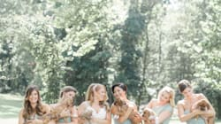 This Bridal Party Ditched Their Bouquets And Held Rescue Pups