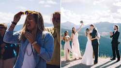 Guy Surprises Girlfriend With Proposal And Wedding On The Same