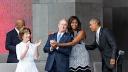 George W. Bush Interrupted Obama To Ask Him To Snap A Picture Of Him And It Was