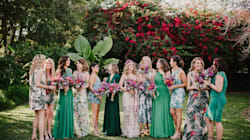 19 Bridal Parties Who Perfected The Mismatched Dress