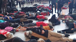 This Massive 'Die-In' Just Happened At Heathrow
