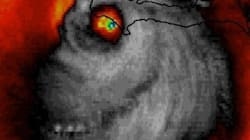Horrifying Face Spotted In Hurricane Matthew Satellite
