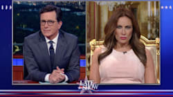 Fake Melania Trump Hilariously Defends Her Husband To Stephen
