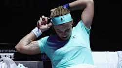 Tennis Player Chops Off Ponytail In Middle Of Match In Bizarre