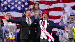 Jon Stewart And Stephen Colbert Unite In Song With Urgent Last-Minute Election