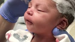 Try Not To Smile Watching This Baby Get Her Hair
