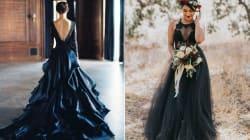 23 vestidos de novia negros para quienes se niegan a usar uno