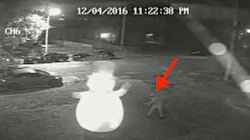 CAUGHT ON VIDEO: World's Grinch-iest Vandal Tries To Kill Frosty The