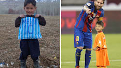 Afghan Boy Who Made A Lionel Messi Jersey From A Plastic Bag Finally Meets His