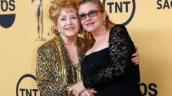 Debbie Reynolds en el hospital después de la muerte de su hija Carrie