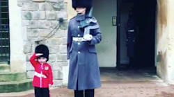 Queen's Guardsman Melts Hearts By Making Boy's Birthday Dream Come
