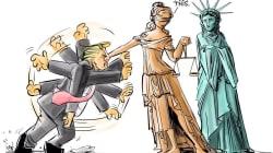 La prohibición musulmana de Trump inspira a un cómic increíblemente satisfactorio (y