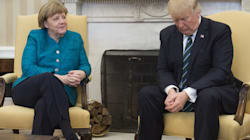 Trump Straight Up Ignores Request To Shake Hands With Angela