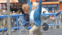 Grandpa Weightlifter Has Awesome Senior Moment At Muscle