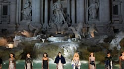Fendi Models Walked On Top Of Rome's Trevi Fountain Last