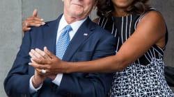 El abrazo entre Bush y Michelle Obama que se hizo
