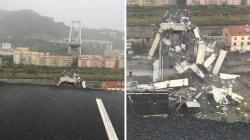 Les terribles images après l'effondrement du pont Morandi à