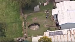 Massive Sinkhole Opens Up In Queensland Pensioners'