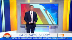 Karl Stefanovic Gives Long On-Air Apology For 'Tranny'