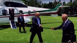 Trump difunde video de su llegada a Los