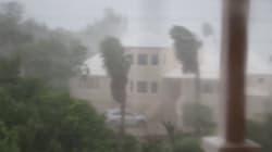 Les images de l'ouragan Nicole traversant les