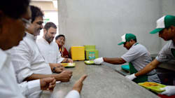 Congress Vice President Rahul Gandhi Launches Amma... Uh... Indira Canteens In