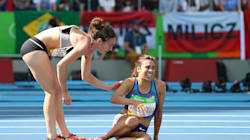 These Olympic Runners Fell, Then Helped Each Other To The Finish