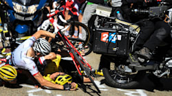 The Dramatic Moment Aussie Rider Slams Into Tour De France