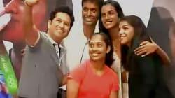 WATCH: Sachin Tendulkar Presents BMWs To Olympics Stars, Sakshi Malik Requests A Selfie With Her
