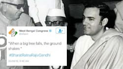 WB Congress Tweets Rajiv Gandhi's Controversial Quote, Alleges